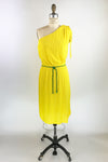 Yellow One Shoulder Dress