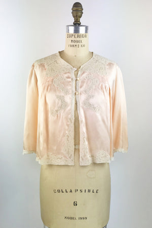 Satin & Lace Bed Jacket