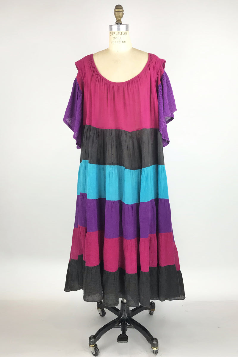 1970s Tiered Dress