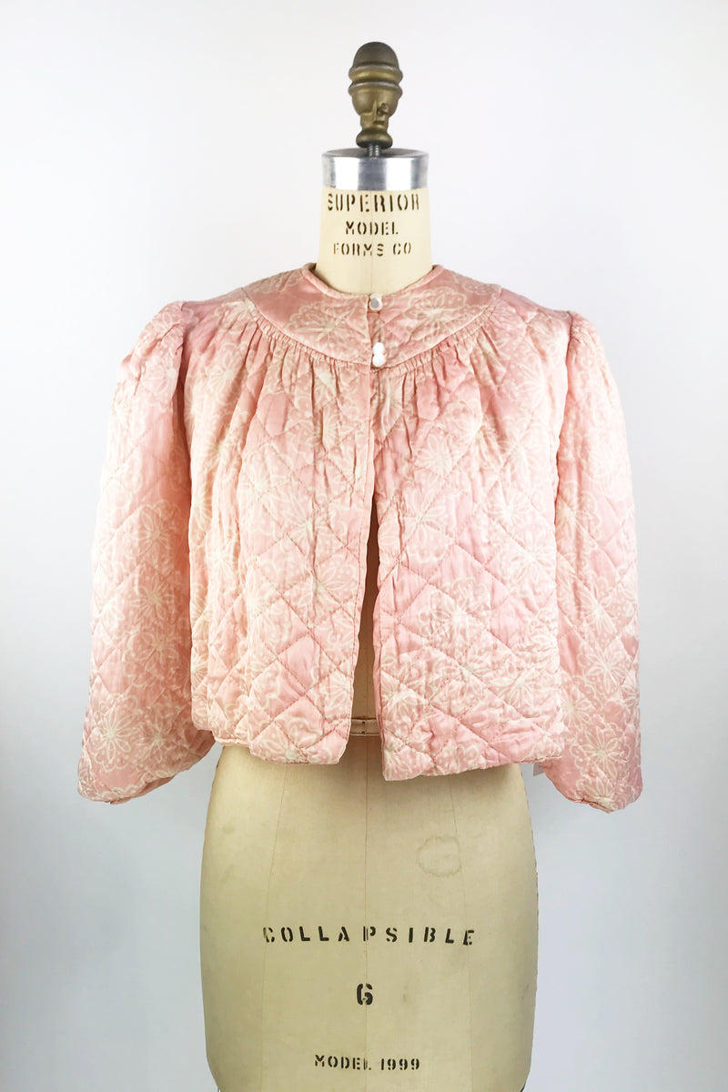 Vintage Quilted Bed Jacket