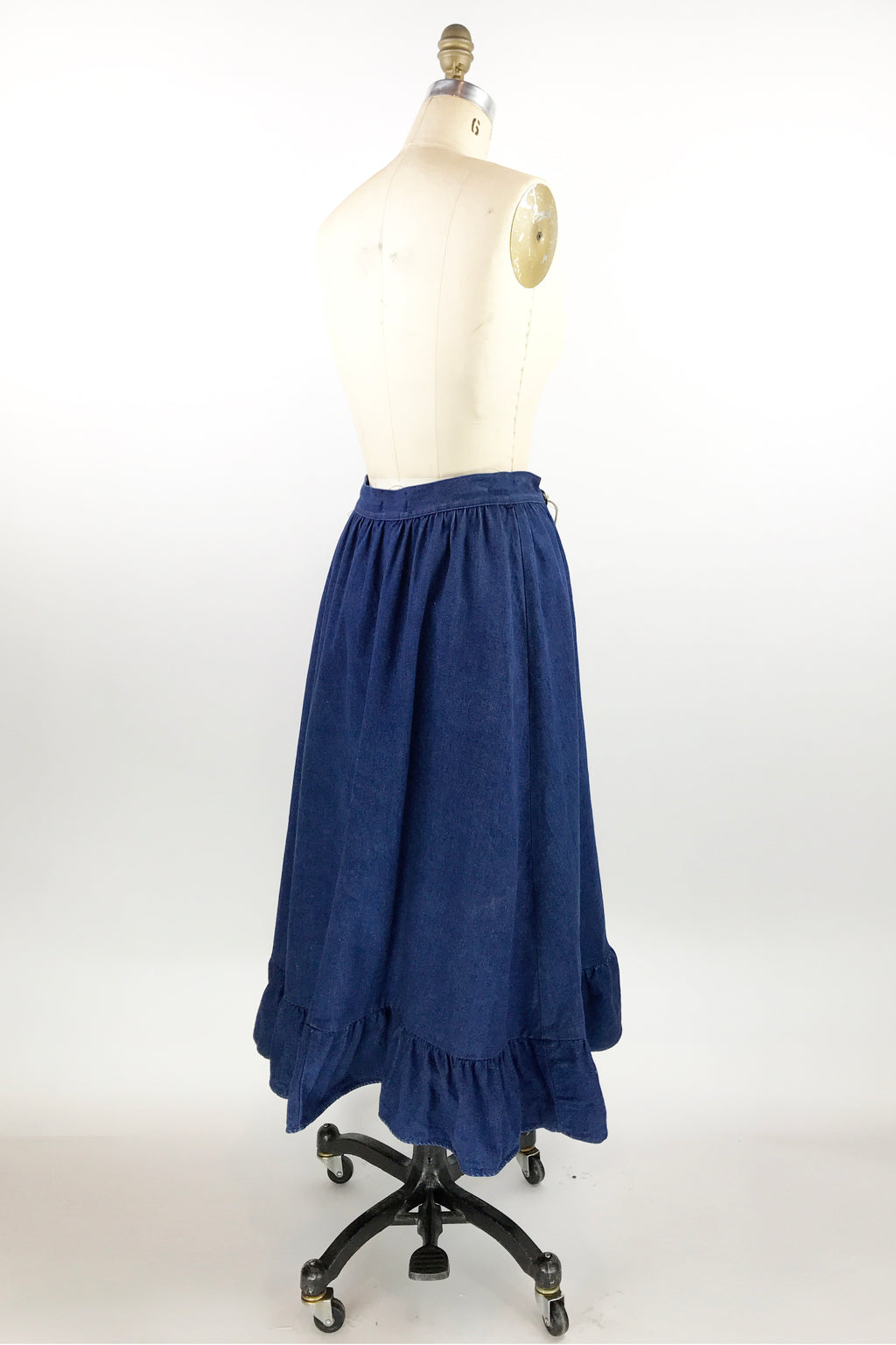 Denim Southwest Ruffle Skirt