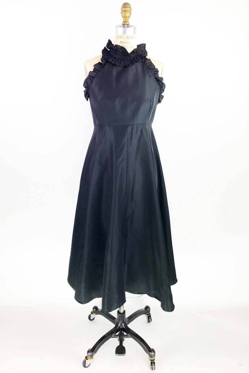 Black Denise L Ruffle Dress