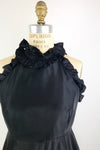 Black Taffeta Ruffle Dress