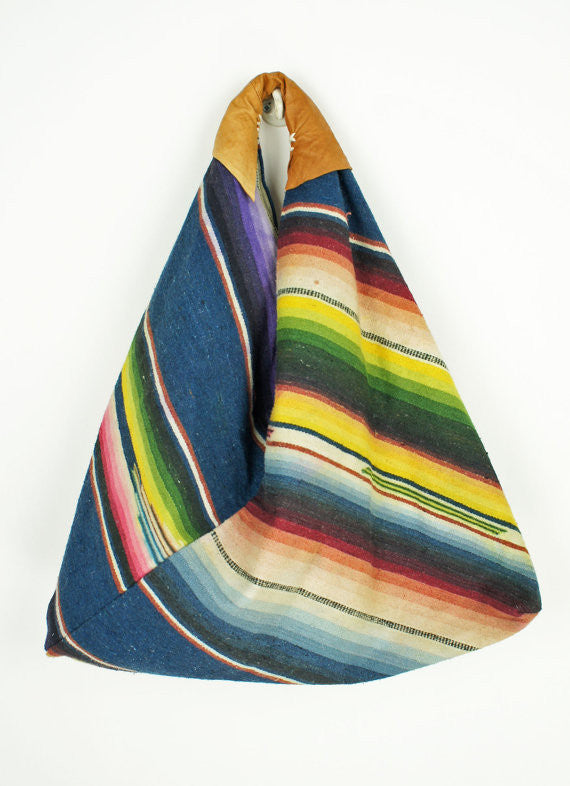 Vintage Serape Hobo Bag