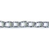 Cable Oval 13x9mm Aluminum Chain Silver color, textured, non tarnish, open links (CH-14315)