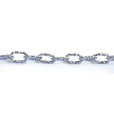 Cable Oval 13x9mm Aluminum Chain Gold or Silver color, textured, non tarnish, open links (CH-14315)