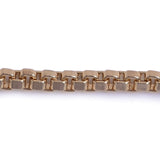 Box Square 4x4mm Aluminum Chain gold color, smooth, non tarnish (CH-15315)
