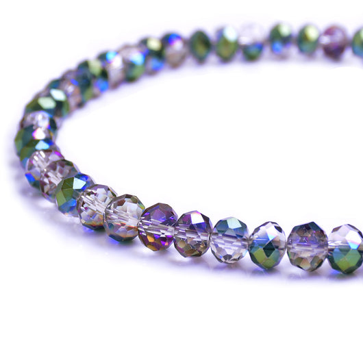 Glass Rondelle Beads C050 Multicolored Vitral