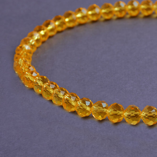 Glass Rondelle Beads E006 Orange