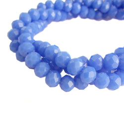 Glass Rondelle Beads C078  Light Blue