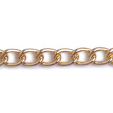 Curb Flat 11.5x8.5mm Aluminum Chain gold, silver or bronze color, smooth, non tarnish, open links (CH-A1474)