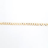 Curb Flat 11x9mm Aluminum Chain gold or bronze color, smooth, non tarnish, open links (CH-A1519)