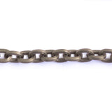 Cable Oval 8x6mm Aluminum Chain gold or bronze color, smooth, non tarnish, open links (CH-A1528)