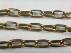 Curb Flat 11x6 Aluminum Chain, bronze color, smooth, non tarnish, open links (5704)