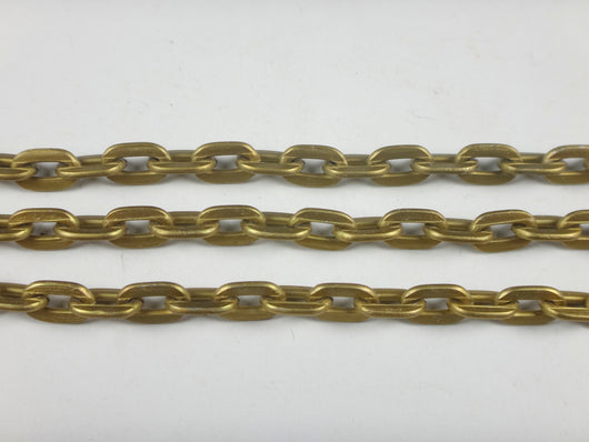 Curb Flat Aluminum Chain bronze color 8x5mm, smooth, non tarnish, open links (5707)