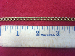 Curb Flat 6.5x4.5mm Aluminum Chain bronze color, smooth, non tarnish, open links (5710)