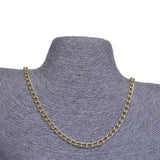 Curb Flat 9x6mm Aluminum Chain gold or silver color, smooth, non tarnish, open links (CH-A014)
