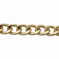 Curb Flat 20x16mm Aluminum Chain gold color, smooth, non tarnish, open links (7859)