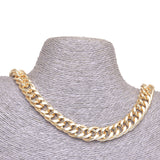 Curb Flat 20x14mm Aluminum Chain gold color, smooth, non tarnish, open links (CH-A102)