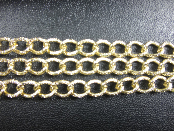Aluminum Curb Gold Chain 11x6 mm (8253)