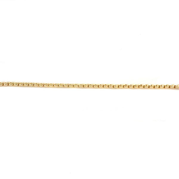 Box Square 2x2mm Aluminum Chain gold color, smooth, non tarnish (11467)