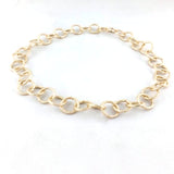 Rolo Round 15.5mm Aluminum Chain gold color, textured, non tarnish, open links (8487)