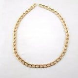 Curb Flat 9.5x5mm Aluminum Chain, gold color, smooth, non tarnish, open links (9152)