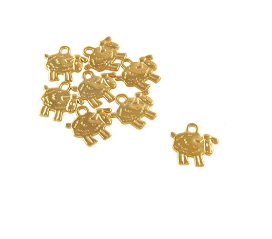 BD012 Sheep 14k Gold Plated Charm