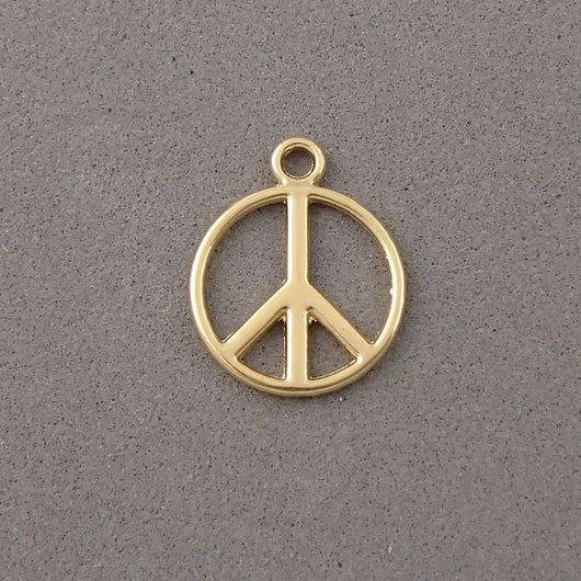BD018 Peace & Love 14k Gold Plated Charm