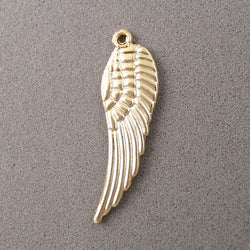 BD019 Wing 14k Gold Plated Charm