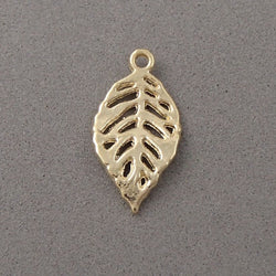 BD032 Leaf 14k Gold Plated Charm