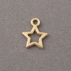 BD033 Star 14k Gold Plated Charm
