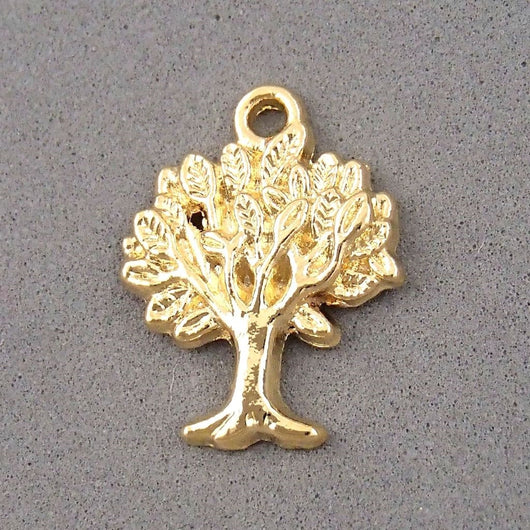 BD037 Tree 14k Gold Plated Charm