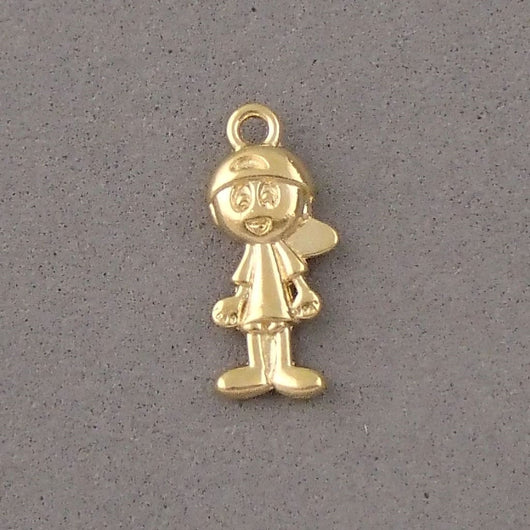 BD051 Boy 14k Gold Plated Charm