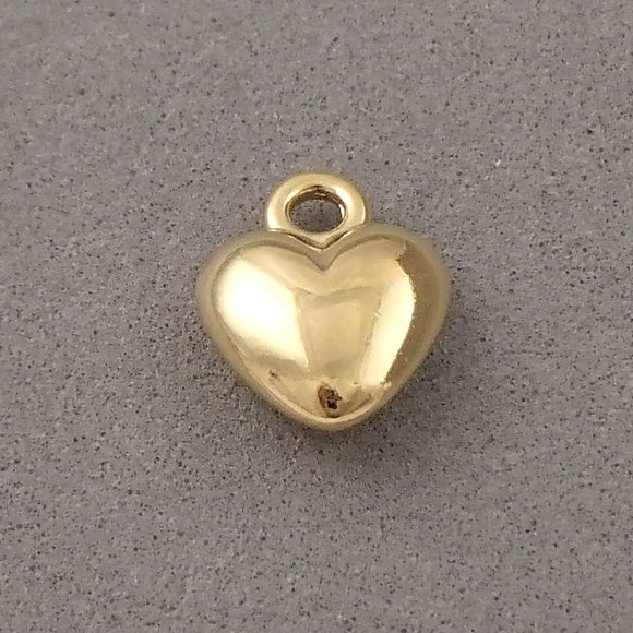 BD055 Heart 14k Gold Plated Charm