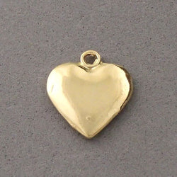 BD060 Heart 14k Gold Plated Charm
