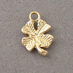 BD061 Good Luck Clover 14k Gold Plated Charm