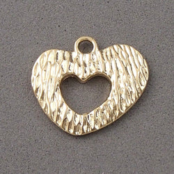 BD062 Heart 14k Gold Plated Charm