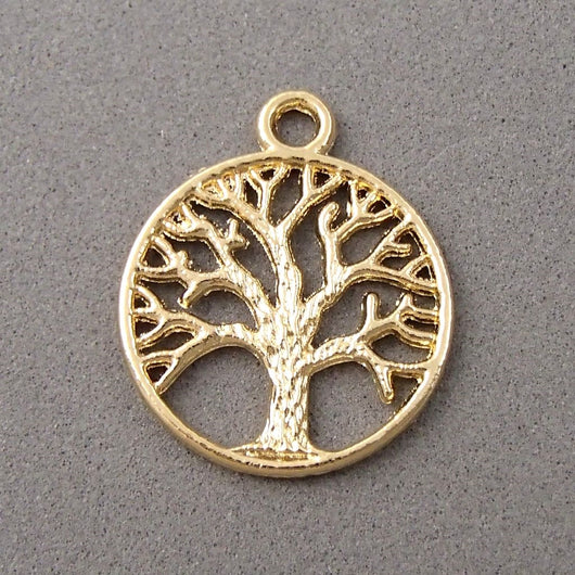 BD065 Tree 14k Gold Plated Charm