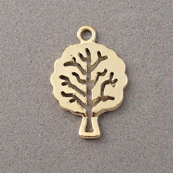 BD072 Tree 14k Gold Plated Charm