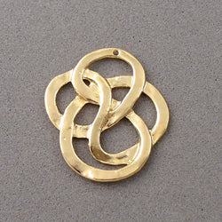 BD080 Knot 14k Gold Plated Charm