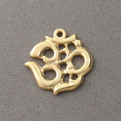 BD081 OM 14k Gold Plated Charm