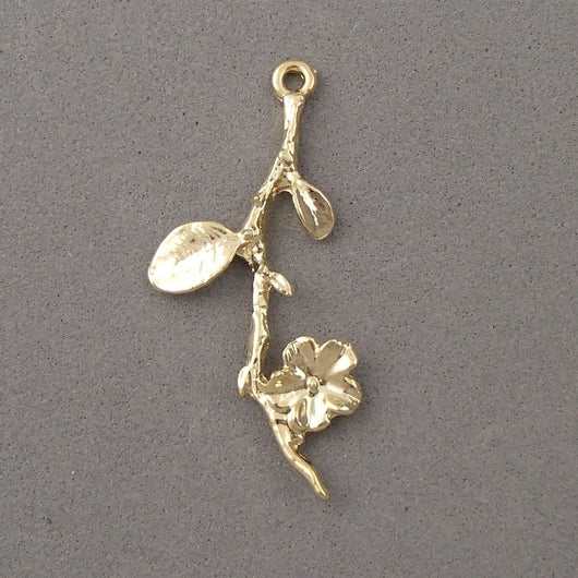 BD100 Branch 14k Gold Plated Charm
