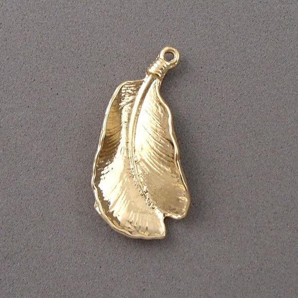 BD106 Leaf 14k Gold Plated Charm