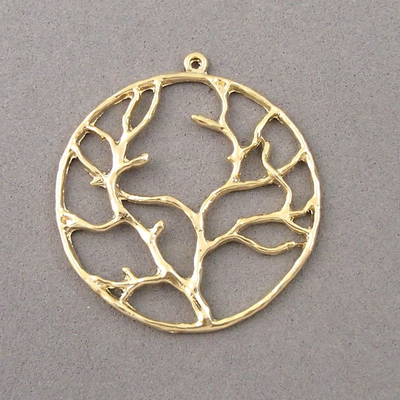 BD108 Tree 14k Gold Plated Charm