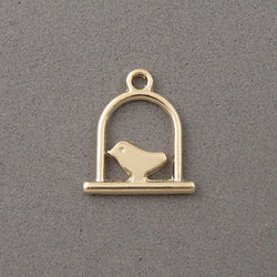 BD130 Bird 14k Gold Plated Charm