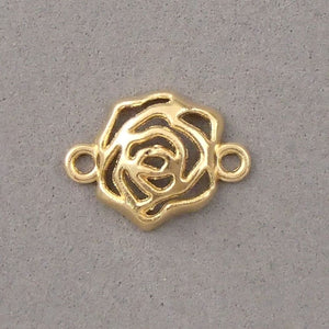 BD132 Rose 14k Gold Plated Charm