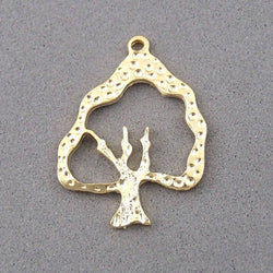 BD134 Tree 14k Gold Plated Charm