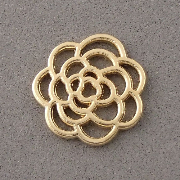 BD136 Flower 14k Gold Plated Charm