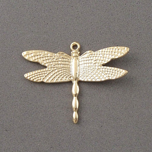 BD138 Dragon Fly 14k Gold Plated Charm